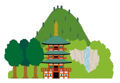 那智山青岸渡寺と那智の滝